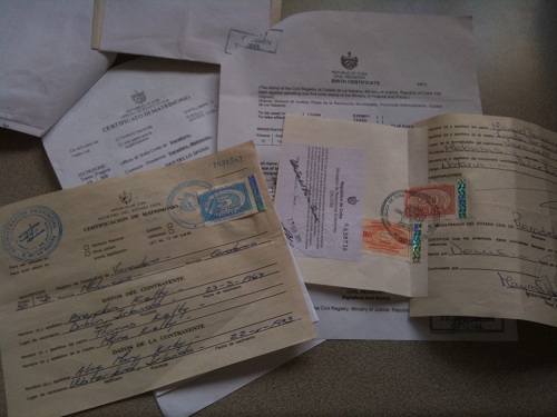 Cuban certificates